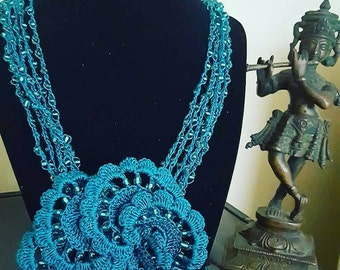 ArtInCrochet presents OUT OF BLUE line of fashion jewelry. Proceeds go to charity.