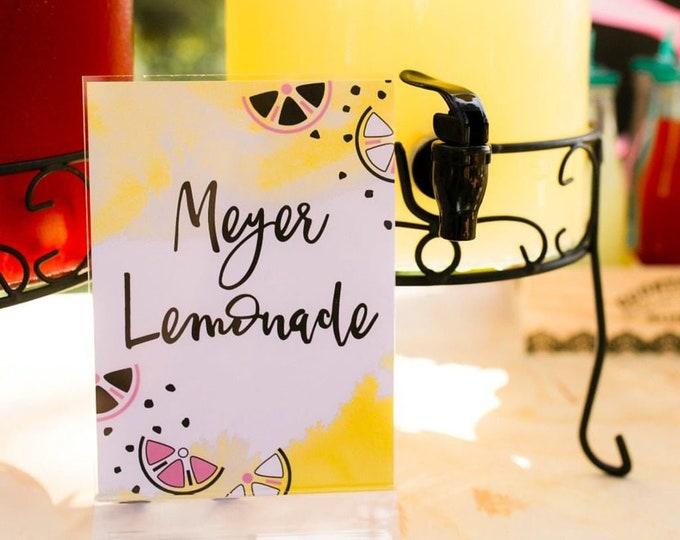 Printable Lemonade Food & Beverage Sign