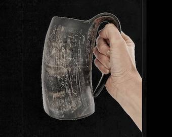 Large Tankard Viking Drinking Horn