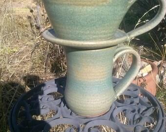 Drip Coffee/Tea Maker, Malachite Green glaze