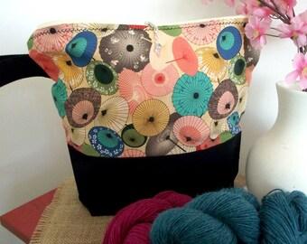 Moyen grand sac pour bracelet tricot et crochet tricot projet sac sac pour garder enregistrer votre tricot et crochet travaux wips et fils #3