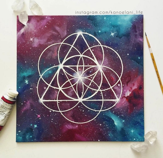 Shape And Space Artwork : Sacred geometry art crystal healing grid space