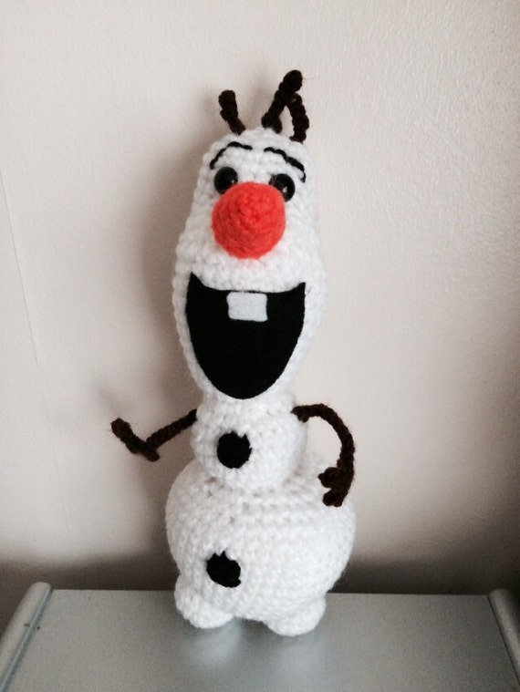 Bonhomme de neige olaf inspir de crochet - Bonhomme de neige olaf ...