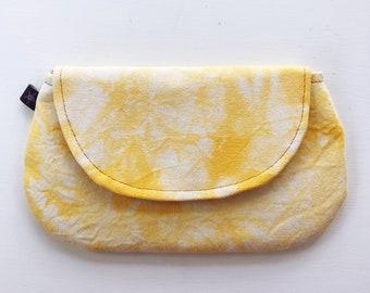 Denim Clutch, Peggy Sue, Hand Painted Denim Bag