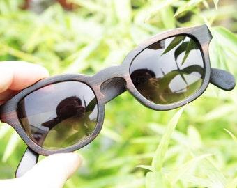 COVER-M handmade ebony wooden TAKEMOTO prescription Rx customize  sunglasses