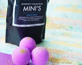 mini bath bombs, luxury bath bomb, bath fizzy, bath ball, purple bomb, glitter bath bomb, moisturising bath bomb