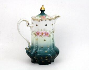 IRMA Z S & C Bavaria Chocolate Pot Porcelain Teapot Fine China Tea Pot
