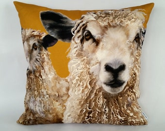 Longwool Sheep Cushion Cover, sheep pillow, farm animals, farmyard faces, farming gifts, gifts for animal lovers, rural life, countryside