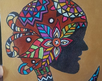 African inspired painting