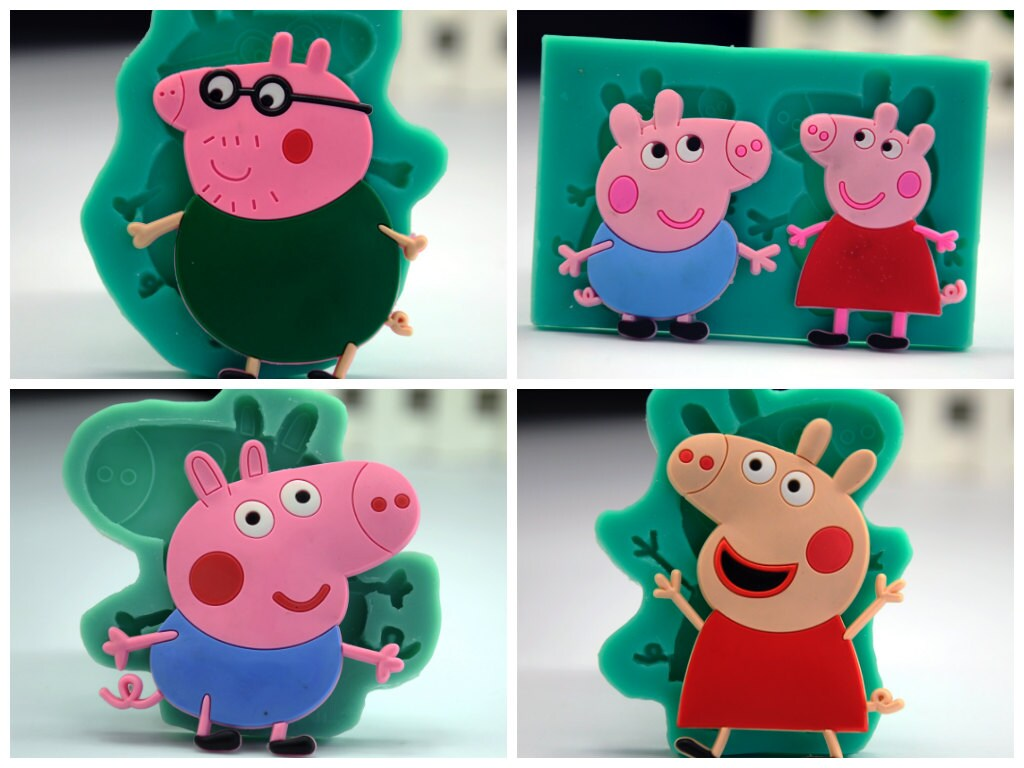 Molde De La Torta De Peppapig Molde De Gelatina De Galletas # Muebles De Peppa Pig