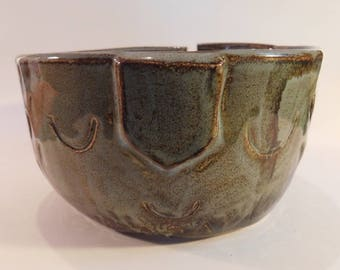 Yarn bowl with face