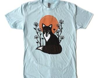 Unisex / Men's Fox in the Wilderness Sun T Shirt Clothing