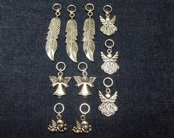 Angel stitch markers/progress keepers