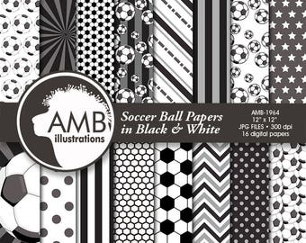 Sports Digital Paper, Soccer Papers and Backgrounds, Football Digital Papers, Soccer Scrapbook Papers, Commercial Use, AMB-1964