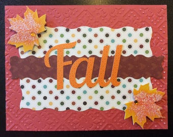 Handmade Card - Autumn