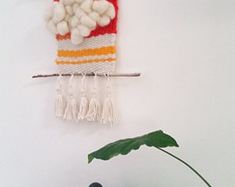 Orange and Yellow Woven Wall Hanging