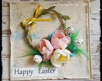 Handmade card, Easter card, Floral card