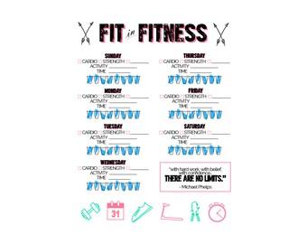 Fitness Tracker Printable