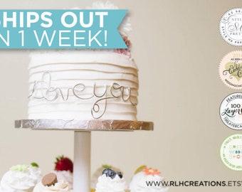 I Love You Cake Topper / Wedding Cake Topper / Wire Cake Topper / I Love You Cake Decor / Cake Decor / Wedding Cake Decor / I Love You Wrap
