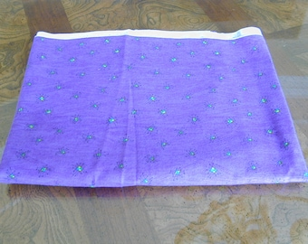 Flannel Fabric Purple with Small Turquoise Dots