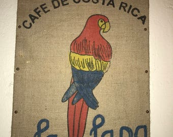 Wall Art La Lapa Coffee Bean Sack Costa Rica