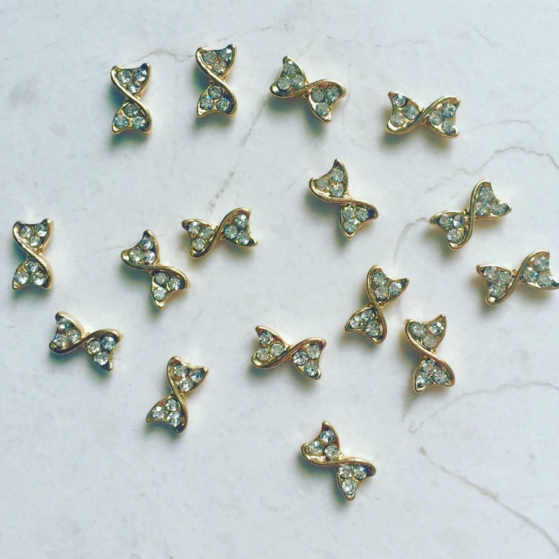 2 Crystal Nail Charms - Kawaii - DIY Nail Art - Nail Decorations ...