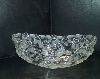 Mikasa crystal bowl or centerpiece with flowers