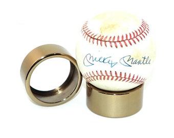 Ultra Premium Polished Gold Autographed Baseball Display Stand