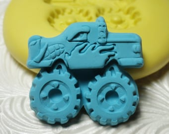 MONSTER TRUCK Mold Silicone Rubber Push Mold Mould for Resin Wax Fondant Polymer Clay Fimo Ice 3110