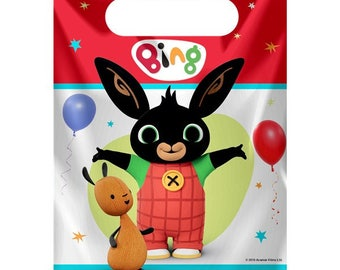 Bing Loot Bags Birthday Party Kids Gift Favours Tableware