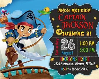 Captain Jake Invitation, Captain Jake Birthday Party, Jake and the Neverland Pirates Invitation