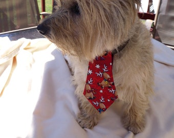 Christmas Reindeer Necktie for Dogs That Is Removeable