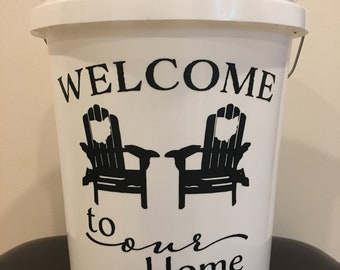 Personalized State Bucket Decor-Porch/Home/Patio/Wedding/Housewarming/Fathers Day