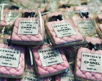 Personalized Chanel Perfume Bottle Sugar Cookies