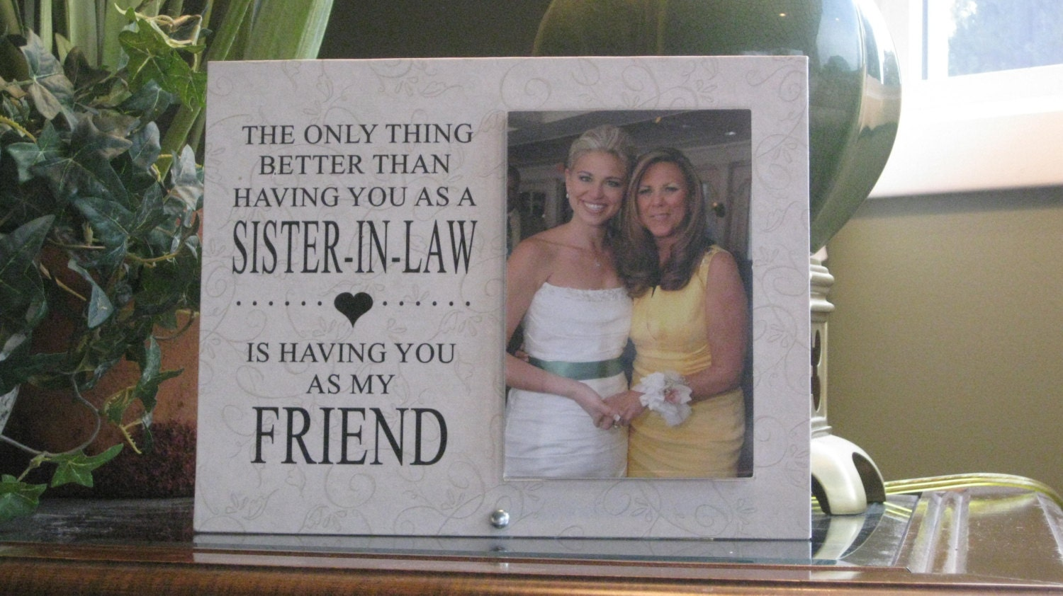 SISTER-IN-LAW Wedding Gift, Sister-In-Law Wedding Frame, Sister-In ...