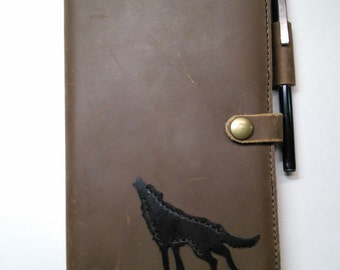 Leather Wolf Journal Cover