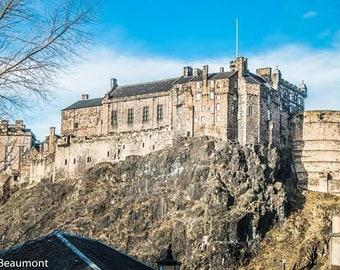 Edinburgh - Edinburgh Castle from Vennel