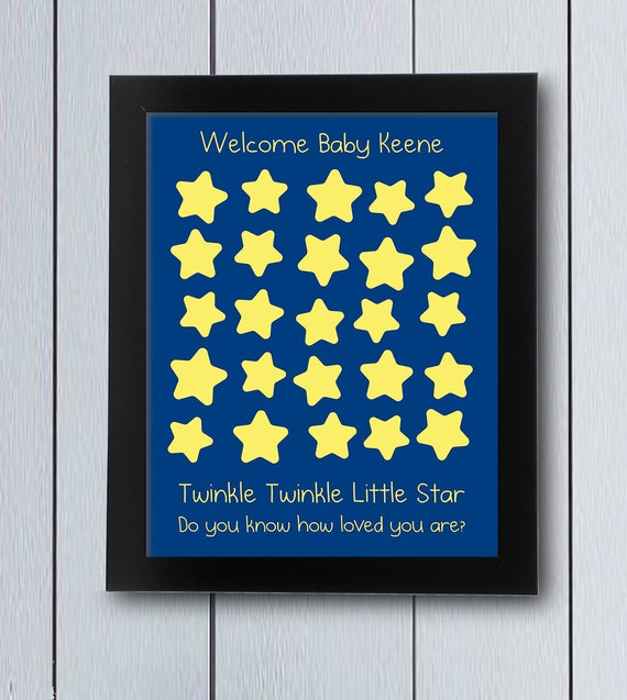 Twinkle Little Star Guest Book / Printable Pdf / Baby Shower