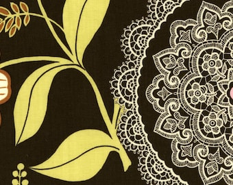 Amy Butler Fabric, Lacework, AB19 Olive, Free Spirit, 100% Cotton, #FS16