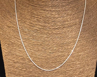 Sterling Silver Chain Necklace 1 mm Snake Chain, Silver Necklace
