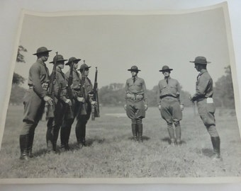 4  Vintage 11x14 Inch Black and White Pre World War II Training Photographs  Lot 1