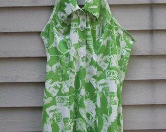 Vintage Hippie Boho halter tank or mini skirt dress  ala 1960/1970