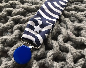 Pacifier, pacifier fabric blue striped sailor