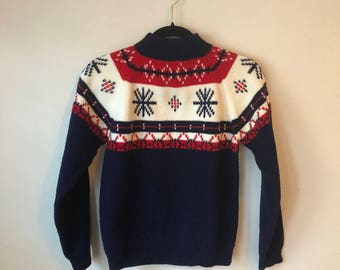 Vintage Ski Sweater - Small