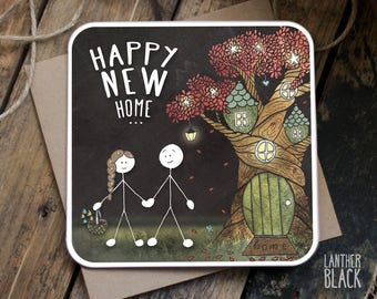 New Home Card / Happy New Home / New Home Congrats / Housewarming Card / New House Card / Moving Card / SM30