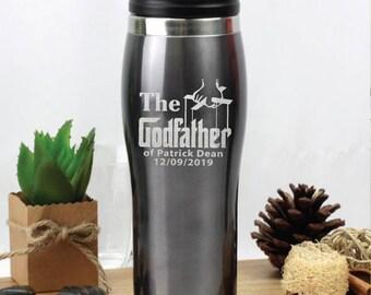 GodfatherEngraved Travel Mug - Grey