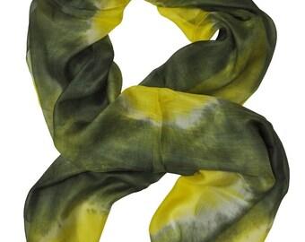 Usma Naturel Ikat Silk Scarf - Sc30 (6019)