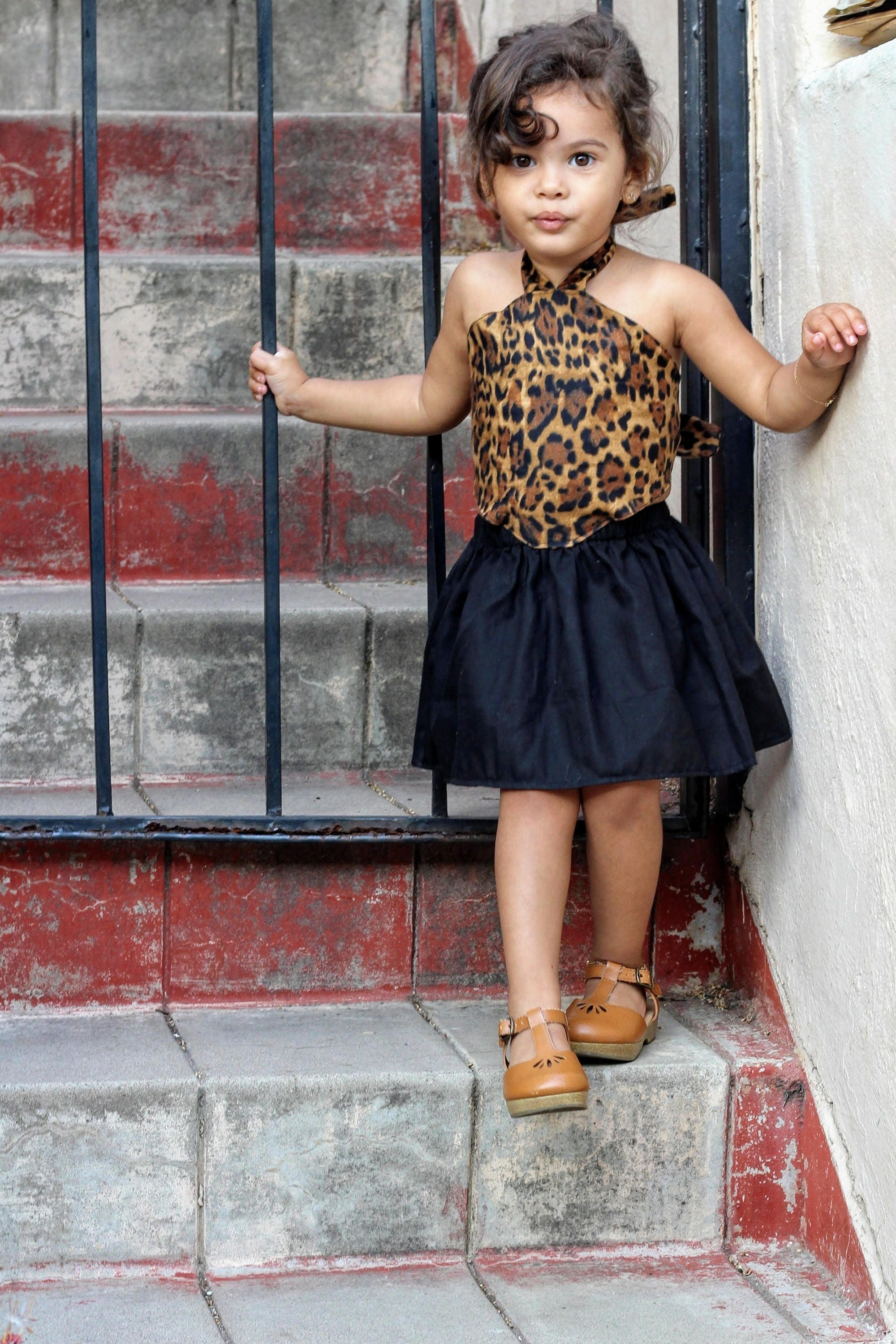 Cheetah dress for baby girls animal print dress toddler girl