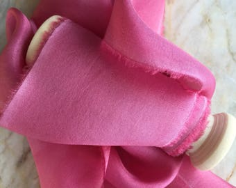 peony, hand-dyed, silk ribbons habotai, stationery ~ weddings ~ bouquets ~ gifts ~ paper crafts ~ styling
