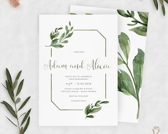 Downloadable Engagement Party Invitation | Green Native